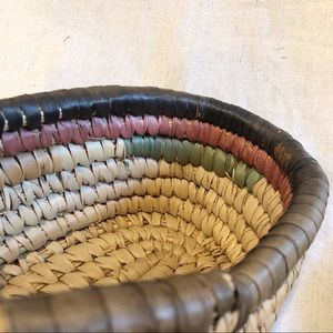 Vintage Accents - Bohemian Walawa Baskets vintage basket with lid